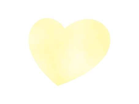 Yellow heart (watercolor hand drawn style)