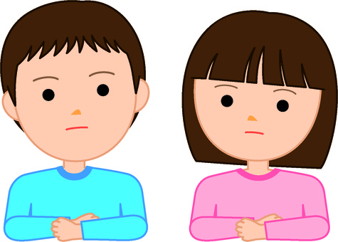 Male and female children - thinking