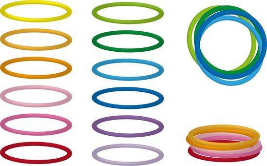 Color hair elastic