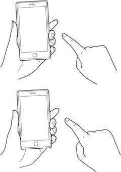 Smartphone tap hand drawing 2