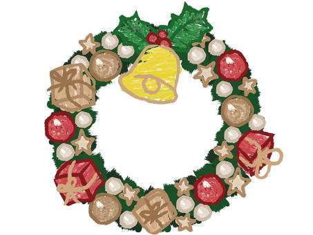 【クリスマス】リースベルヒイラギ緑