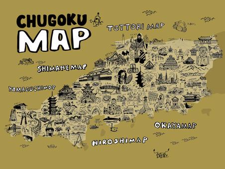 CHUGOKU MAP Illustration
