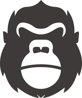 Gorilla icon illustration