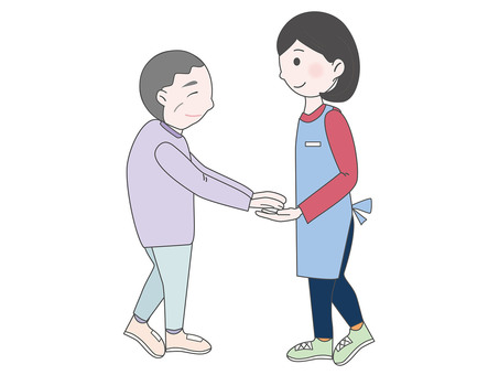 Help illustration of care staff