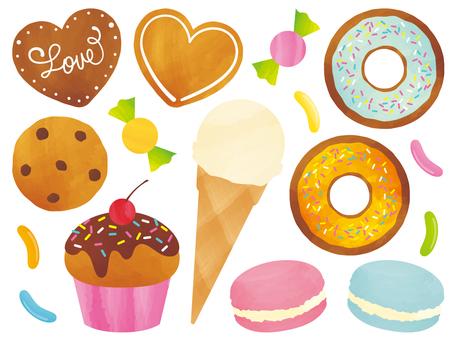 Sweets drawn