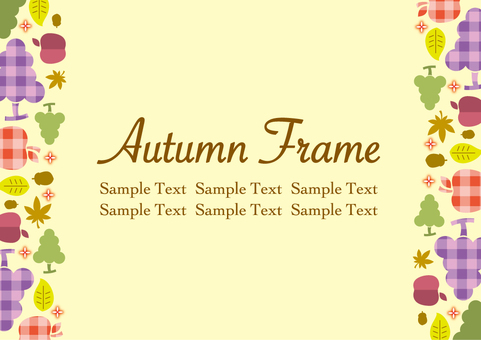 Autumn fruit frame_A01