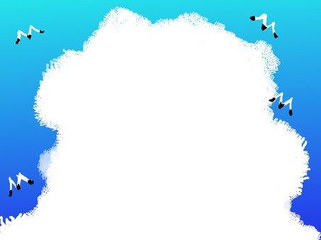 Summer cloud frame frame