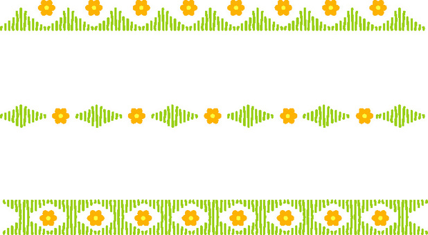 Flower and green decoration line