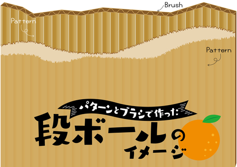 A set that can make corrugated cardboard