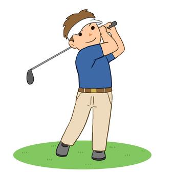 ゴルフ男性