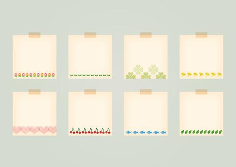 Illustrated memo paper