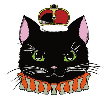 Black cat - crown