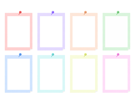 Memo material style simple set frame