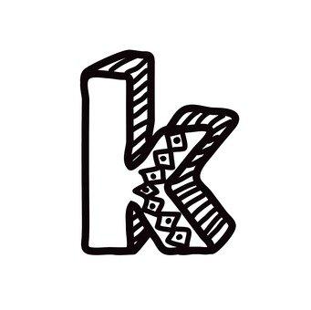 K (lower case)