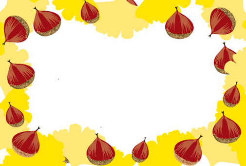 Autumn frame frame of chestnut and ginkgo