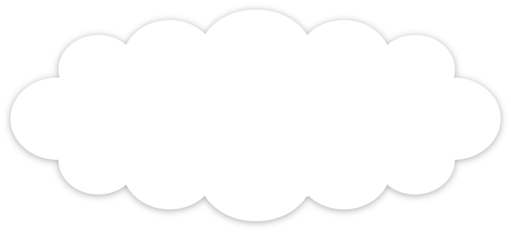 Cloud type speech balloon