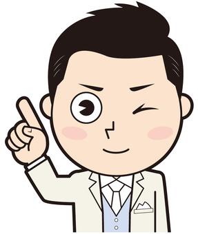 Fingering wear groom (wink)