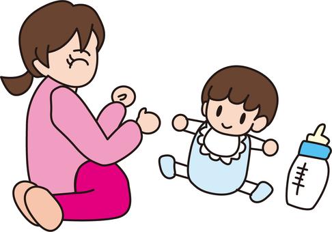 Baby and nursery teacher