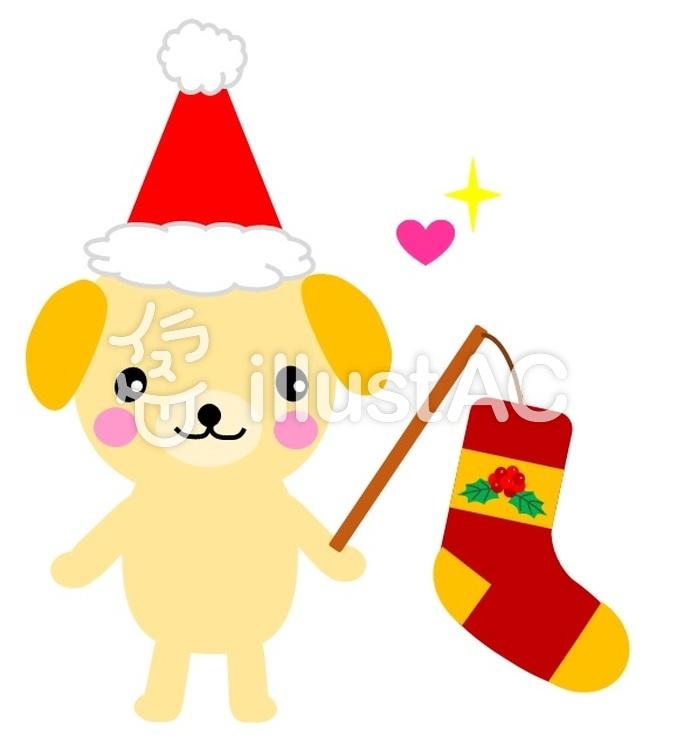 Freie Cliparts: Weihnachten Hündchen Weihnachtssocken Socken Ein ...