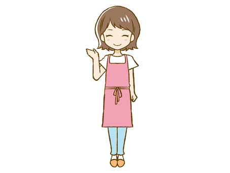Apron woman to guide ②