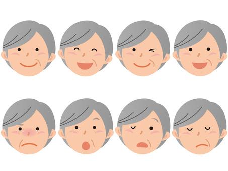 60719. Senior woman, face 2