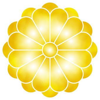 일본식 디자인 노란 국화 꽃
