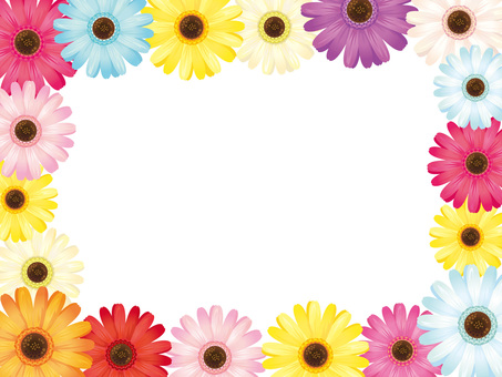 Colorful Gerbera Frame