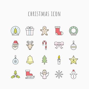 크리스마스 아이콘 세트 C 색상