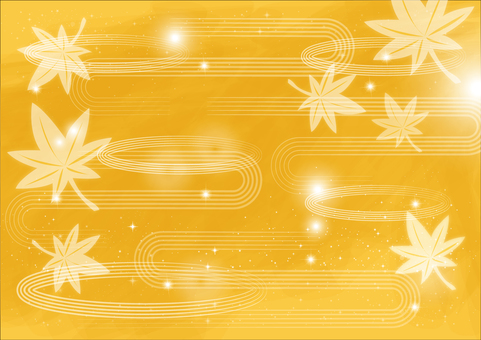 Background _ and wave line _ yellow