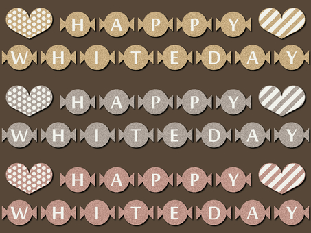 White day candy letters gold silver