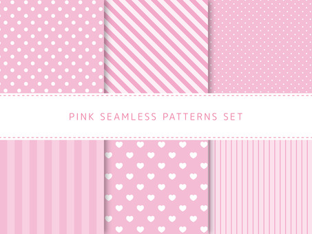 Pink seamless pattern set