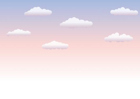 夕焼けの空_背景素材01