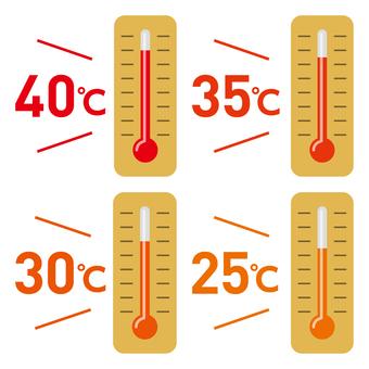 Thermometer-06 (summer temperature set)
