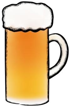 Beer thick main line · writing brush