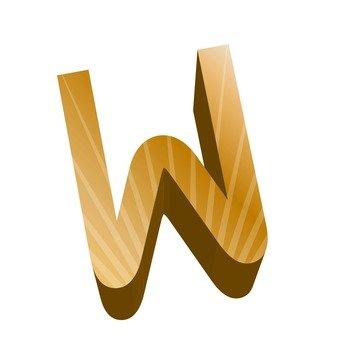 Stereo English word W