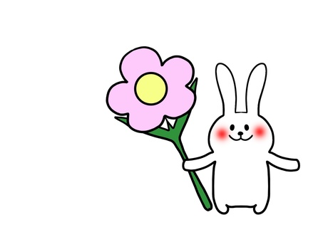 Flowers and rabbits 1