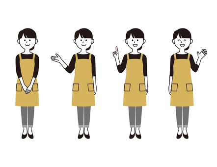 Apron woman (2 color wind)