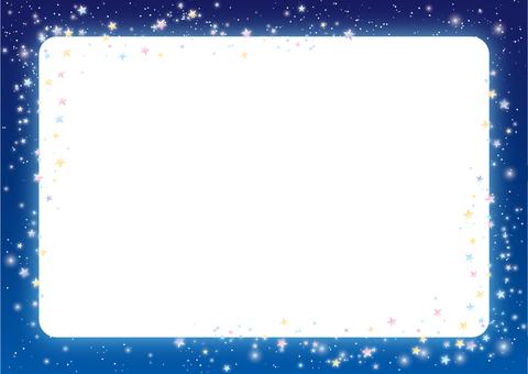 Starry sky background frame