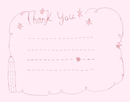 Thank you card peach