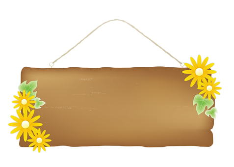 Door plate_ brown_ flower