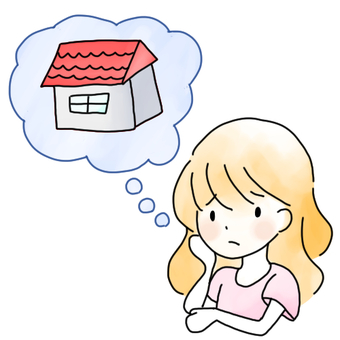 A woman worried about home