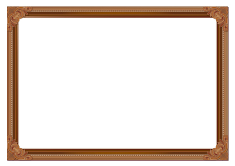 Picture frame brown