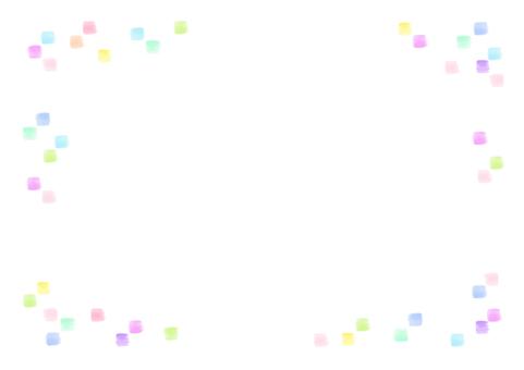 四角ドットの背景(rgb)