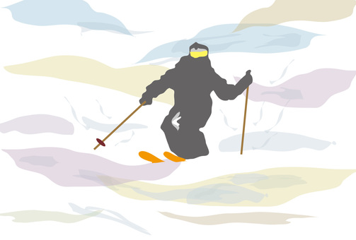 Winter sports skiing and sloping