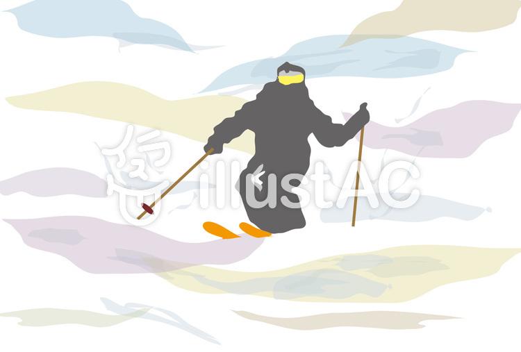 冬スポーツのスキーとゲレンデイラスト No 54653無料イラストなら