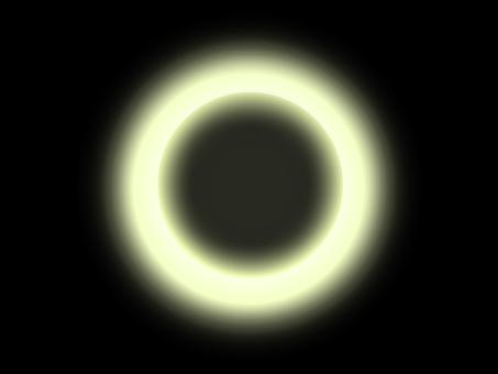 Gloria total solar eclipse yellow