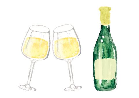 """""""水彩""""白葡萄酒"""