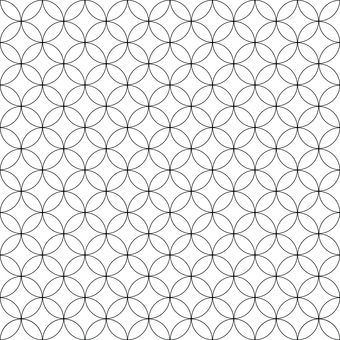 Seamless pattern circle