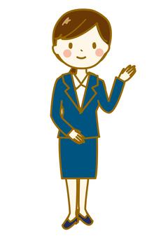 Business woman whole body 3