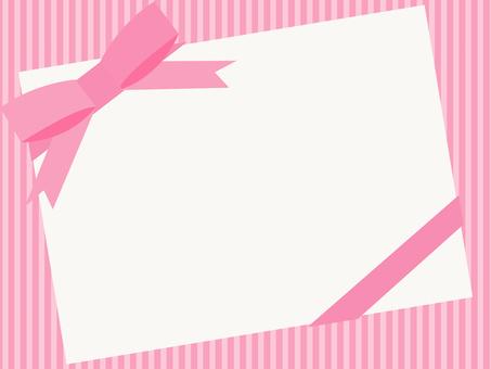 Pink thick ribbon frame 1